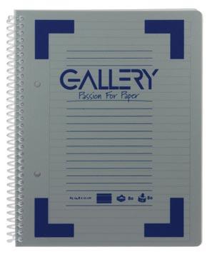 Gallery cahier à reliure spirale Traditional A5, 2 trous, ligné, couleurs assorties, 160 pages