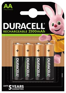 Duracell piles rechargeable Ultra, AA, blister 4 pièces