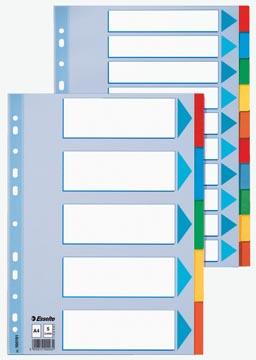 Esselte intercalaires pour ft A4 carton 10 onglets perforée avec 23 anneaux