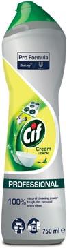 Cif crème récurante citron, flacon de 750 ml