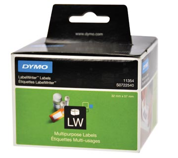 Dymo étiquettes LabelWriter, ft 57 x 32 mm, amovible, blanc, 1000 étiquettes
