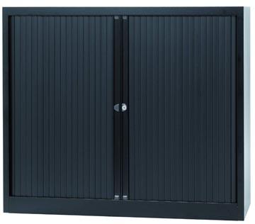 Bisley armoire à rideaux, ft 103 x 120 x 43 cm (h x l x p), 2 tablettes, noir