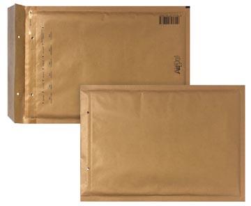 Bong enveloppes à bulles d'air, ft 180 x 265 mm avec bande adhésive, brun, boîte de 100 pièces
