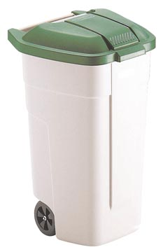 Rubbermaid conteneur mobile Base, sans couvercle, 100 litre, blanc