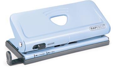 Rapesco perforateur 6 trous en métal pour des organisateurs, capacité: 10 feuilles, bleu