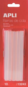 Apli bâtonnets de colle transparents 7,5 mm, blister de 10 pièces