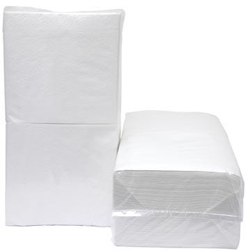 Serviettes, ft 33 x 32 cm, 1 pli, paquet de 500 pièces