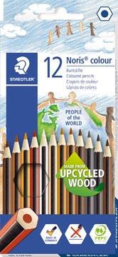 Staedtler crayons de couleur Noris Club People Of The World 12 crayons de couleurs