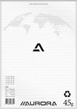 Bloc de brouillon, ft A4, quadrillé 5 mm