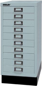 Bisley armoire à tiroirs, ft 67 x 27,9 x 40,8 (h x l x p), 10 tiroirs, argent-gris