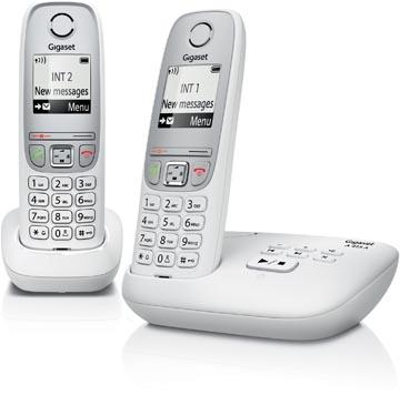Gigaset A415 téléphone DECT sans fil avec répondeur intégré, avec combiné supplémentaire, blanc