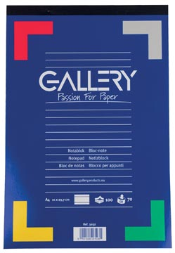 Gallery bloc de notes, ft A4, ligné