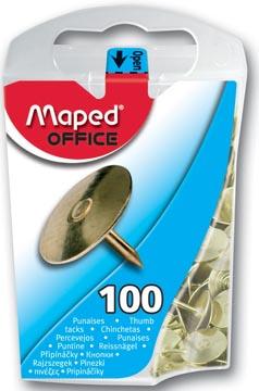 Maped punaises, cuivré, boîte de 100 pièces