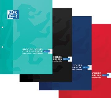 Oxford bloc de cours School, couleurs assorties, ft A4, 100 feuilles, quadrillé commercial