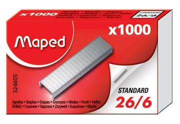 Maped agrafes 26/6, boîte de 1.000 agrafes