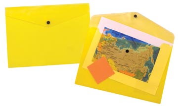 Beautone pochette documents, A4, jaune transparent