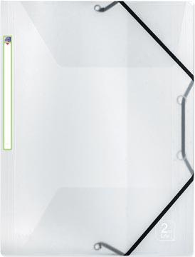 OXFORD 2nd Life farde à rabats et élastiques, format A4, en PP, transparent