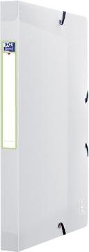 OXFORD 2nd Lide boîte de classement, format A4, en PP, dos de 2,5 cm, transparent
