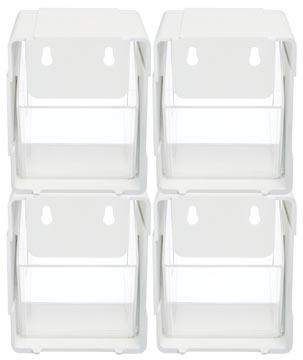 Deflecto boîte de rangement basculant, paquet de 4 pièces