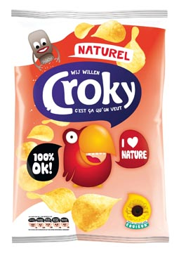 Croky chips naturel, sachet de 100 g