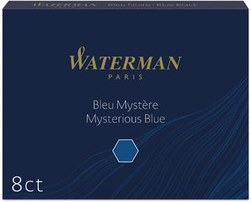 Waterman cartouches d'encre Standard 23, bleu-noir, boîte de 8 pièces