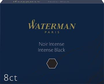 Waterman cartouches d'encre Standard 23, noir, boîte de 8 pièces