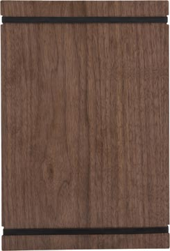 Securit protège-menu, ft 32 x 22 cm, avec bandes élastiques, en bois de noyer