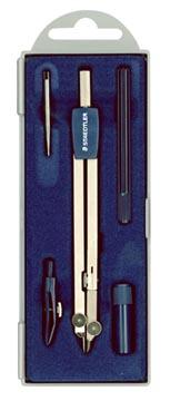 Staedtler Compas Mars 559 Arco coffret 5 pièces: compas avec étui-mines, tire-ligne et pointe