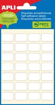 Apli étiquettes blanches ft 12 x 18 mm (l x h), 168 pièces, 28 par feuille (2670)