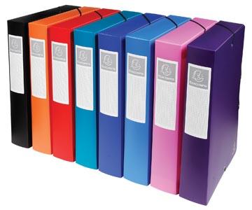 Exacompta boîte de classement dos de 6 cm couleurs assorties