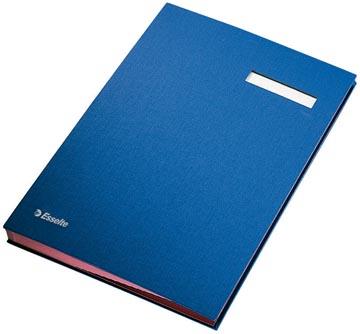 Esselte signataire, ft A4, 20 compartiments, bleu