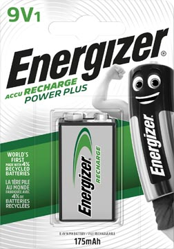 Energizer pile rechargeable Power Plus 9V, sous blister