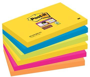 Post-it Super Sticky notes Rio, ft 76 x 127 mm, 90 feuilles, paquet de 6 blocs