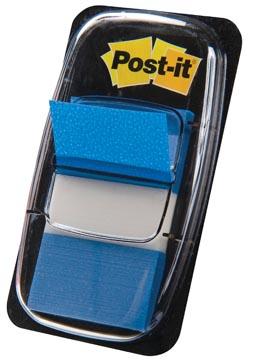 Post-it Index standard, ft 25,4 x 43,2 mm, bleu, dévidoir avec 50 cavaliers