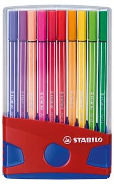 STABILO brush Pen 68, ColorParade, boîte rouge-bleu, 20 pièces en couleurs assorties