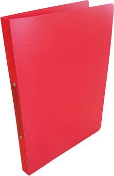 Alpha classeur à anneaux, pour ft A4, en PP, 2 anneaux de 16 mm, rouge