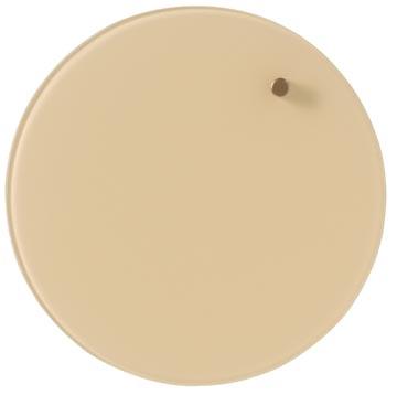 Naga Nord tableau en verre ronde magnétique, diamètre 25 cm, crème