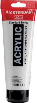 Amsterdam peinture acrylique tube de 120 ml, blanc de titane