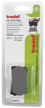 Trodat tampon encreur de rechange noir, pour cachet 4912, blister de 2 pièces