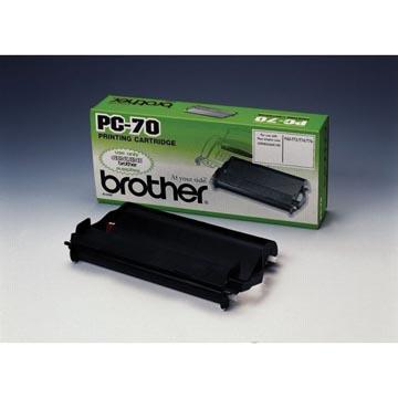 Brother rouleau transfert thermique avec cassette, 140 pages, OEM PC70