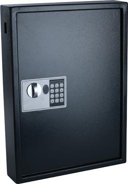 Armoire à clés, pour 50 porte-clés, ft 10 x 40 x 55 cm, noir
