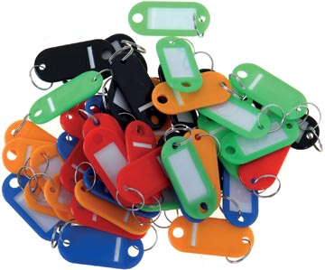 Porte-clés, couleurs assorties, paquet de 20 pièces