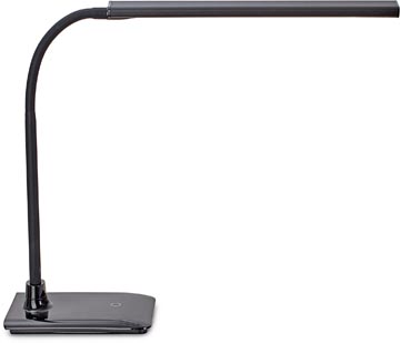 Maul lampe bureau MAULpirro, LED, intensité réglable, avec socle, noir