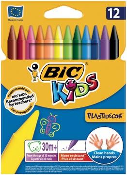 Bic Kids Plastidecor craie à la cire, étui de 12 pièces