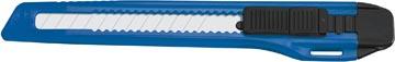Office cutter, 9mm, noir/bleu, sur blister