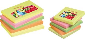 Pergamy notes, ft 76 x 76 mm, 4 couleurs assorties néon, paquet de 12 blocs