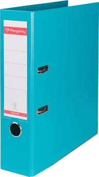 Pergamy classeur, pour ft A4, entièrement en PP, dos de 8 cm, turquoise
