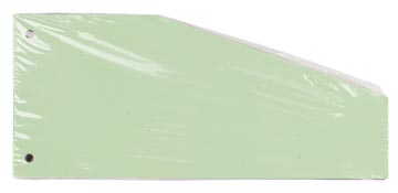 Pergamy intercalaires trapézoïdaux, paquet de 100 pièces, vert