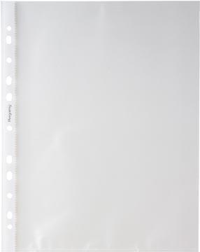 Pergamy pochette perforée, ft A4, perforation 11 trous, PP grainée de 50 micron, paquet de 100 pièces