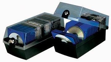 Han boîte de rangement pour CD ou DVD Mäx, noir